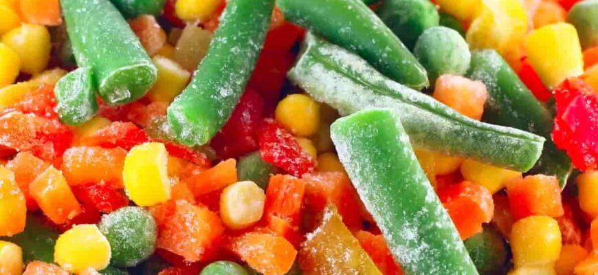 Замороженные смеси овощей