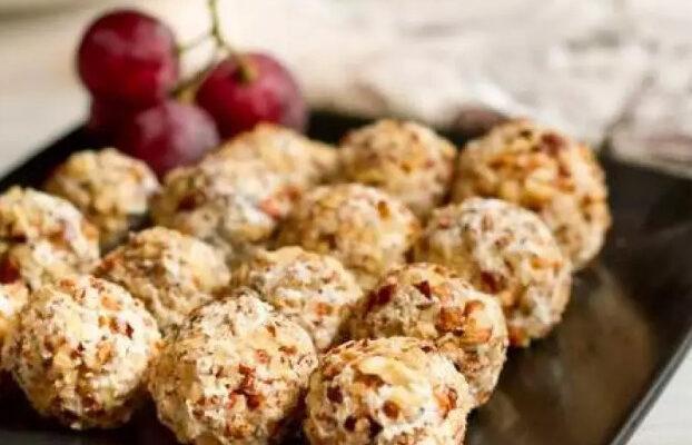 Сырные шарики с помидорками черри